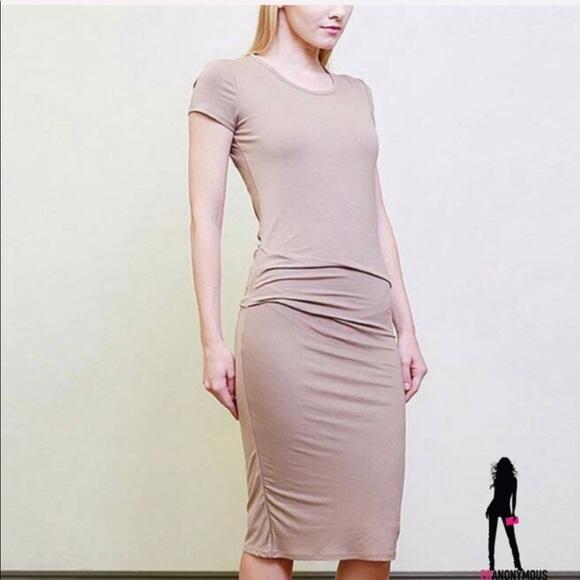 April Spirit Dresses & Skirts - Blush Color Bodycon Dress